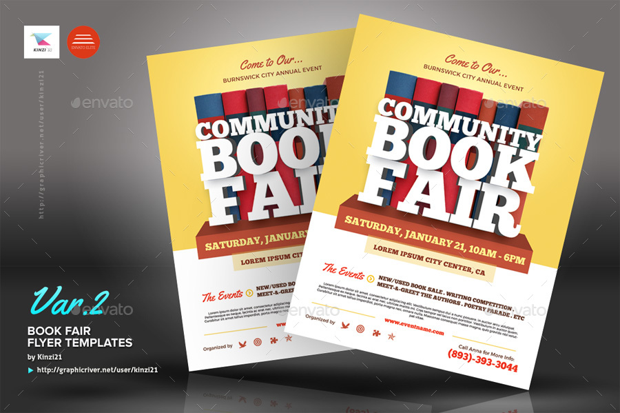 Book Fair Flyer Template By Kinzi21 Graphicriver