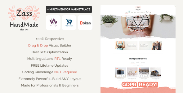 Zass - WooCommerce Theme for Handmade Artists and Artisans - WooCommerce eCommerce