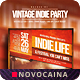 Vintage Indie Party Flyer - 8 Colors - A4 & US Letter - GraphicRiver Item for Sale