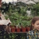 Attractive Woman Gardener and Her Cheerful Daughter Are Choosing Seedlings and Putting Them in - VideoHive Item for Sale