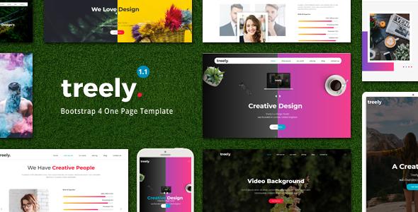 Treely - One Page Parallax - Portfolio Creative