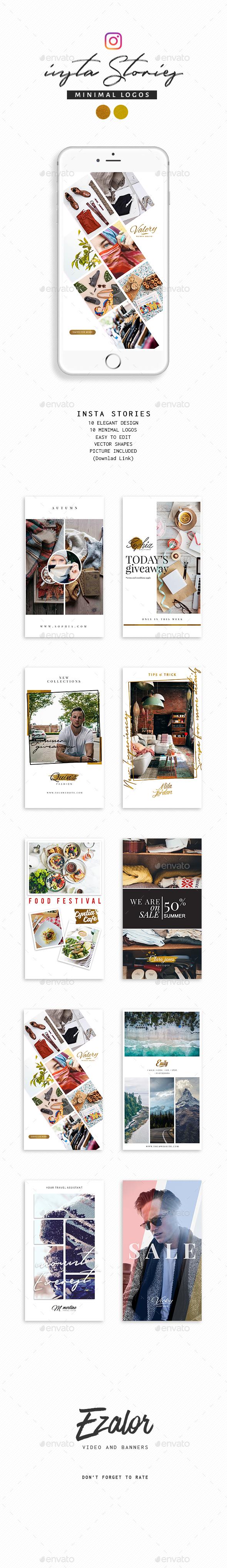Stories and Logos Vol 2 - Social Media Web Elements