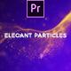 Elegant Particles Titles Mogrt - VideoHive Item for Sale