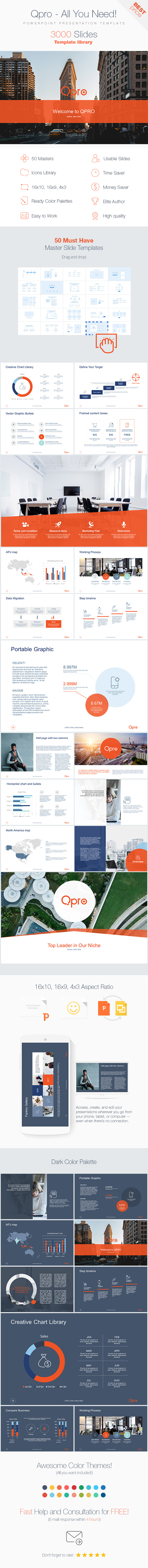 Qpro 3000 - Powerpoint Presentation Template - Business PowerPoint Templates