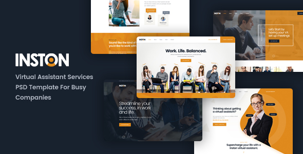 Inston – Virtual Assistant Services PSD Template