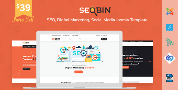 SeoBin | SEO, Digital Marketing, Social Media Joomla Template