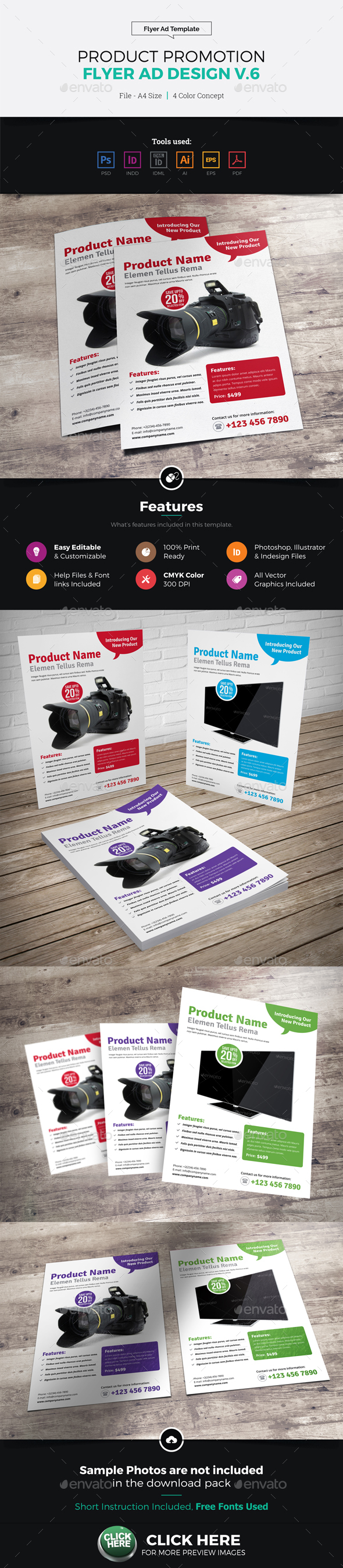 Product Sale Promotion Flyer Ad Design v6 - Corporate Flyers