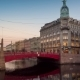 Red Bridge in Saint Petersburg - VideoHive Item for Sale