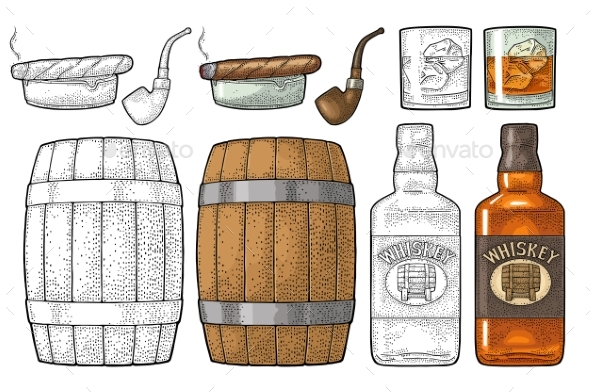 Whiskey Set - Food Objects