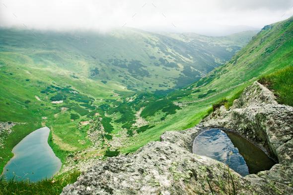 Alpine lake - Stock Photo - Images