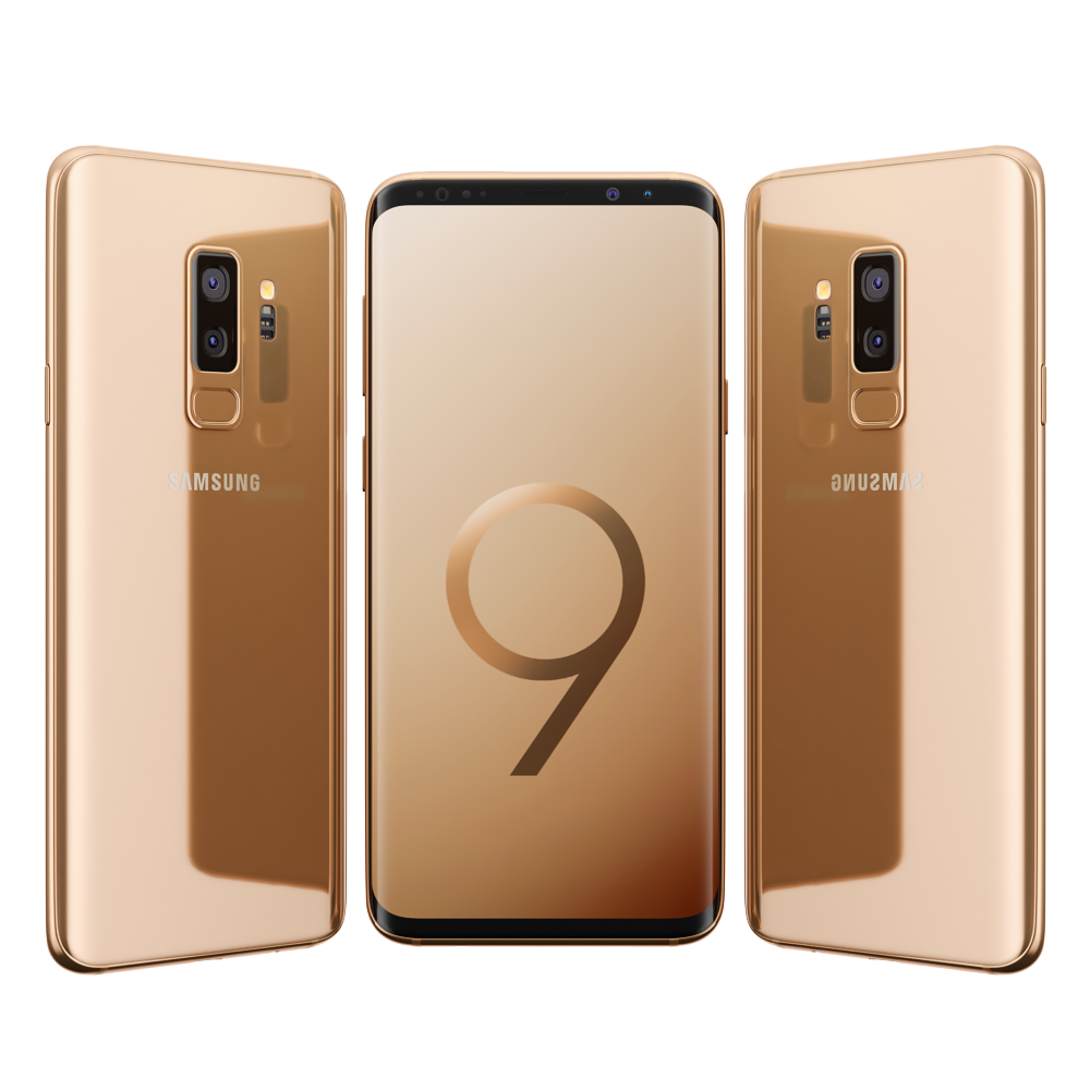 samsung galaxy s9 plus sunrise gold by madmix x 3docean. Black Bedroom Furniture Sets. Home Design Ideas