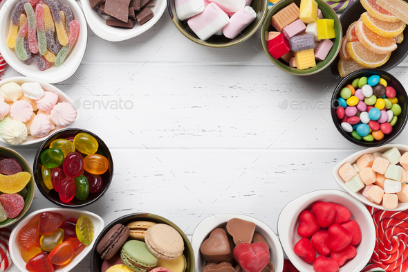 Colorful sweets. Lollipops and candies - Stock Photo - Images