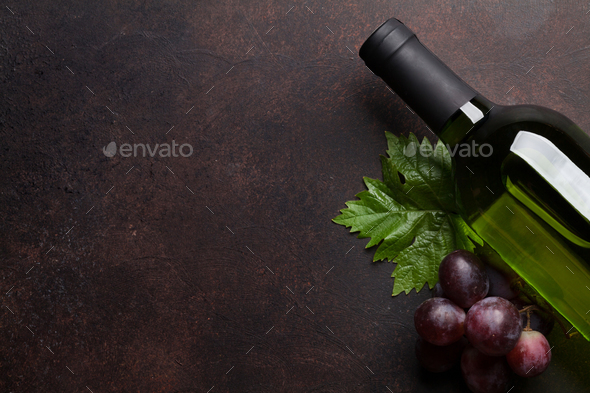 Wine glasses and grape - Stock Photo - Images