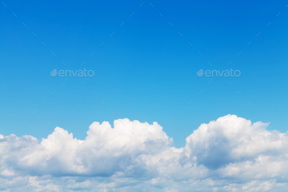 Blue sky and clouds - Stock Photo - Images