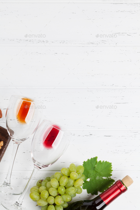 Wine and grape - Stock Photo - Images