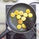The Cook Fries Small Cutlets in a Frying Pan. Top View. - VideoHive Item for Sale