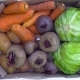 Box with Vegetables on the Table. Top View - VideoHive Item for Sale
