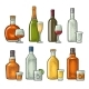 Set of Glass and Bottles - GraphicRiver Item for Sale