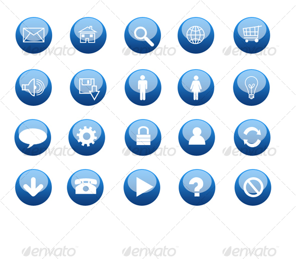 Blue Glossy Icon - Web Icons