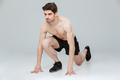 Portrait of a concentrated young half naked sportsman - PhotoDune Item for Sale