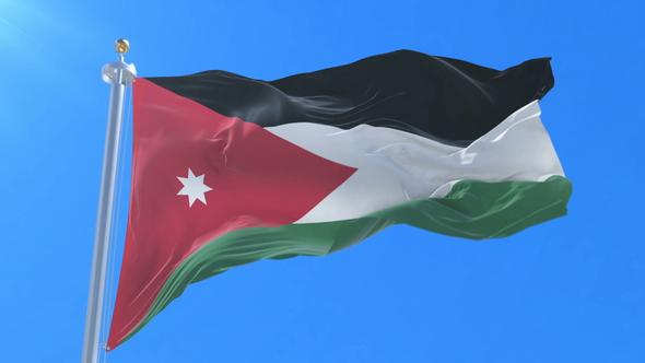 flag of jordan waving by ianm35 videohive