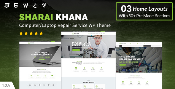 Image of Sharai Khana - Computer Service Center WordPress Theme