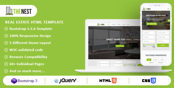 Nest - Real Estate HTML Template - Business Corporate