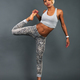 slim athletic girl doing stretching - PhotoDune Item for Sale