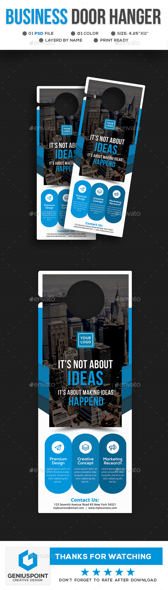 Business Door Hanger - Miscellaneous Print Templates