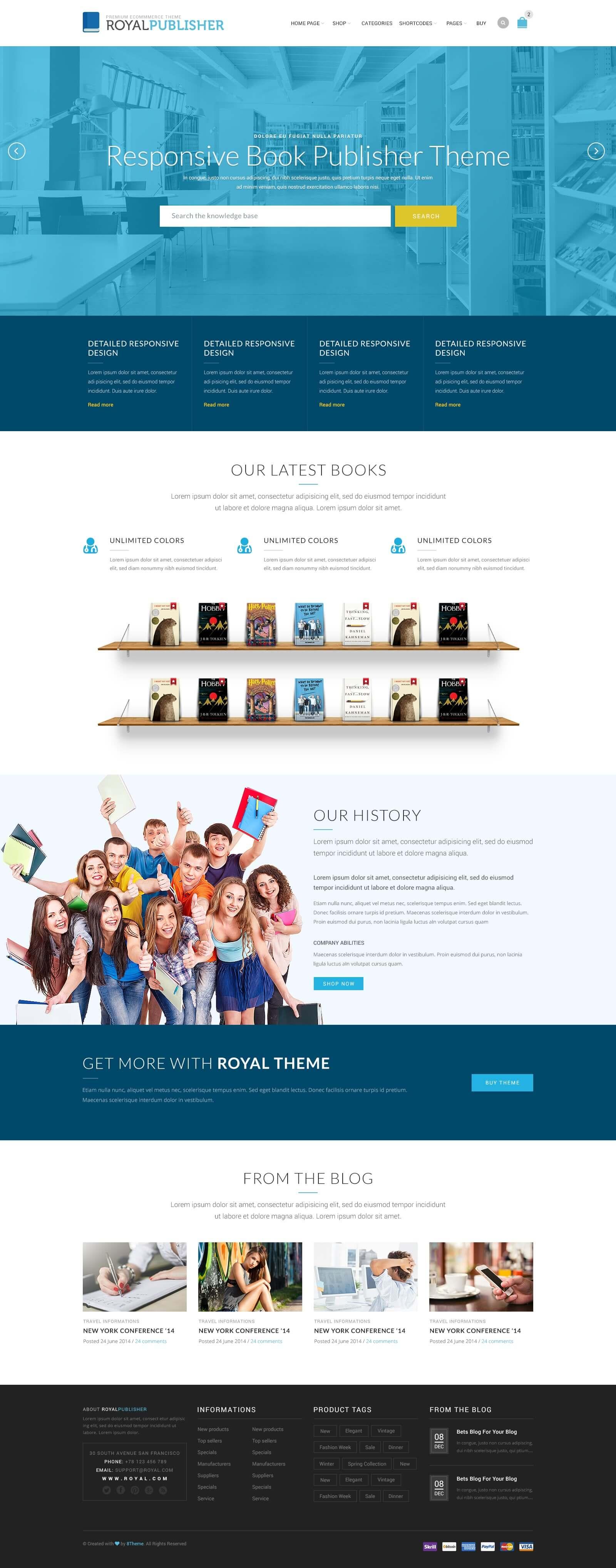 royal multi purpose wordpress theme by 8theme themeforest
