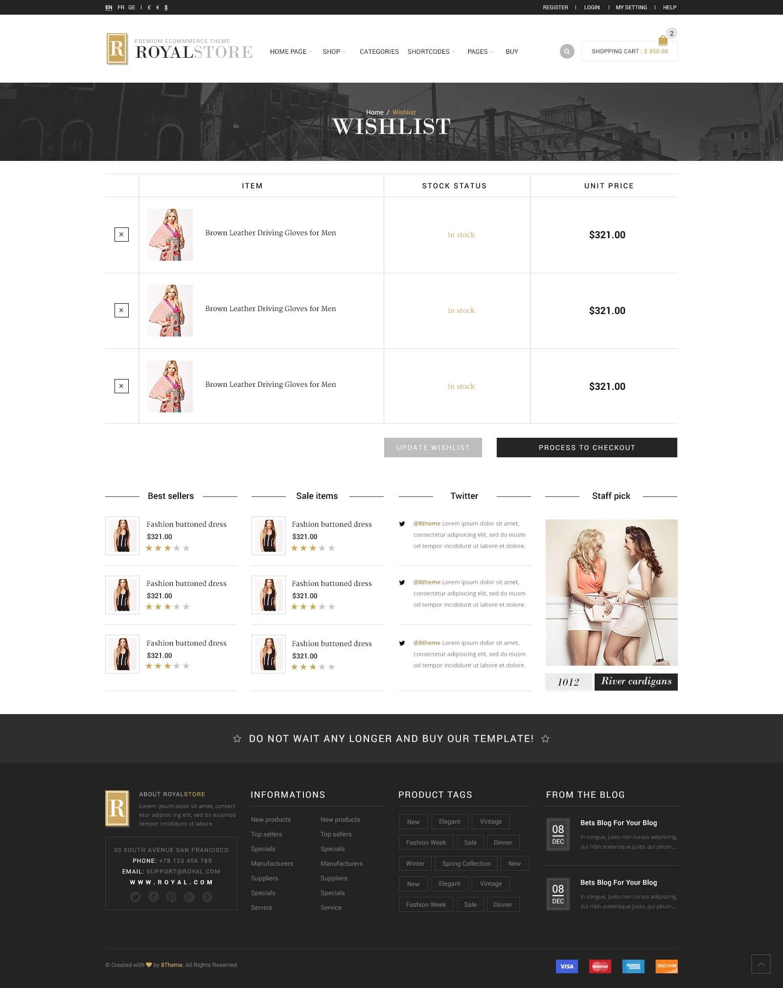 Royal Multi Purpose WordPress Theme by 8theme