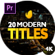Modern Promo Titles for Premiere 2.3 - VideoHive Item for Sale