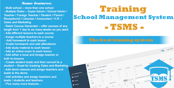 Training School Management System - TSMS - CodeCanyon Item for Sale