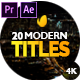 Modern Promo Titles Pack 2.0 - VideoHive Item for Sale