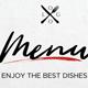 One Page Restaurant Menu