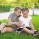 Cutie Girls Doing Homework Together Outdoor. They Are Getting Knowledge Afterschool. - VideoHive Item for Sale