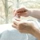 Hands of Elderly Woman Knitting - VideoHive Item for Sale
