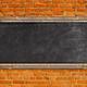 Chalkboard on brick wall - PhotoDune Item for Sale