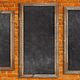 Chalkboards on brick wall - PhotoDune Item for Sale