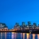 Sunset Over MI6 Building St. George Wharf St. George Tower and Vauxhall Bridge on the River - VideoHive Item for Sale