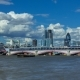 with Panoramic View of Central London. This View Includes: St. Paul's Cathedral, Blackfriars Bridge - VideoHive Item for Sale