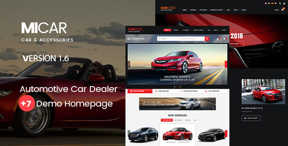 Micar –  Auto Dealer RTL WooCommerce WordPress for Car and Moto Theme