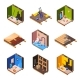 Vector Isometric Home Renovation - GraphicRiver Item for Sale