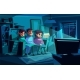 Family Watching Night TV Vector Illustration