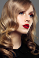 Beautiful young model with red lips and nude manicure - PhotoDune Item for Sale