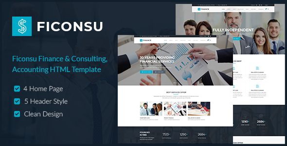 Ficonsu Consultant Finance Html Templates By Themesflat Themeforest