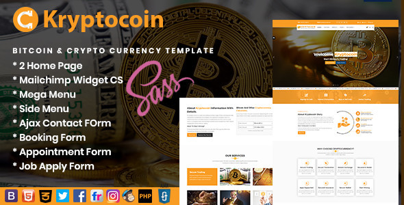 Image of Kryptocoin Bitcoin & Crypto Currency Template