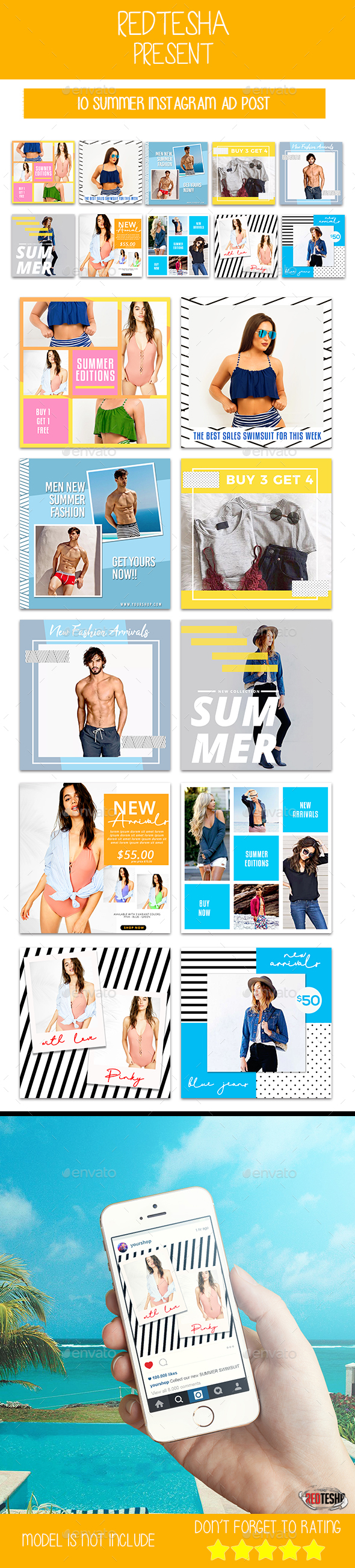 Instagram Fashion Banner #11 - Banners & Ads Web Elements
