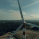 Aerial View of Windmill in Countryside,wind Energy Turbine, Alternative Renewable Energy Production - VideoHive Item for Sale