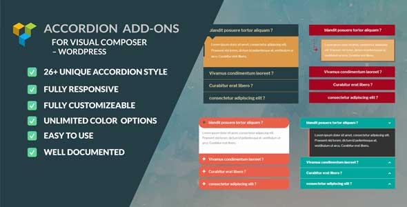 Accordion | Faq | Collapse - add-ons for  WPBakery Page Builder (Visual Composer)